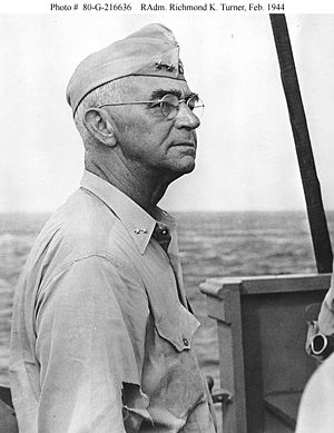 Battle of Tarawa - Rear Adm. Richmond Kelly Turner (overall command Galvanic)