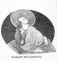 Rabjor or Subhuti