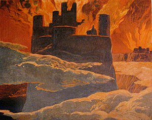 Pluto (song) - Emil Doepler's depiction of Ragnarök. Keeping the idea of the album as a tribute to Iceland, Björk was inspired by this apocalyptic event in Norse canon, which results in a new and fertile world.
