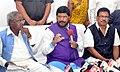 Ramdas Athawale addressing the review meeting with the official of Andhra Pradesh on implementation of Government of India schemes for Disable welfare and Schedule Caste (SC) welfare, at Circuit House, in Visakhapatnam.jpg