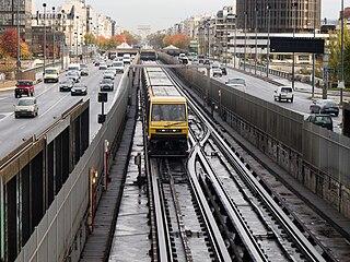 rapid transit line in Paris, France