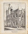Rathhaus, Johann Peter Weyer (Zeichnung) und Anton Wünsch (Lithografie), 1827 (book page, uncropped).jpg