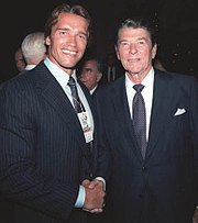 Schwarzenegger with President Ronald Reagan, 1984