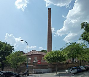 Royal Tapestry Factory - The tall chimney is used in the production of dyes.
