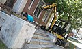 Reconstructing granite steps old Post Office downtown St. Johnsbury VT September 2017.jpg