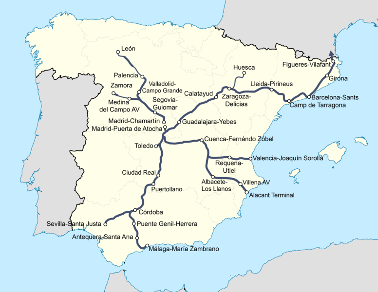 File:Red actual de ferrocarriles de España (ancho europeo).png