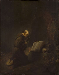 Rembrandt - Francis of Assisi praying Cat481.jpg