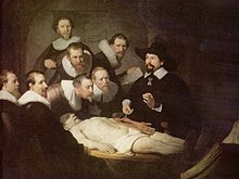 A painting of an autopsy, by Rembrandt, entitled