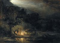 Rembrandt van Rijn, Landscape with the Rest on the Flight into Egypt.jpg
