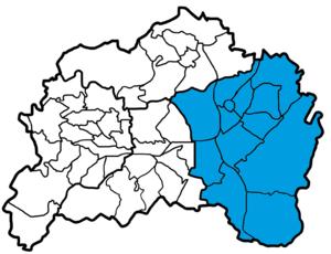 Lage des Bezirks Lennep in Remscheid