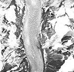 Rendu Glacier, tidewater glacier, hanging glaciers and icefall, September 17, 1966 (GLACIERS 5819).jpg