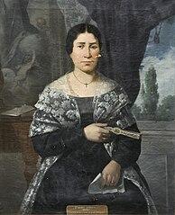 Portrait of lady Serapia Muñoz