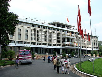 The Amazing Race 15 - Teams ended the second Vietnam leg in Ho Chi Minh City at Reunification Palace; once was the site of seat of power in former South Vietnam.