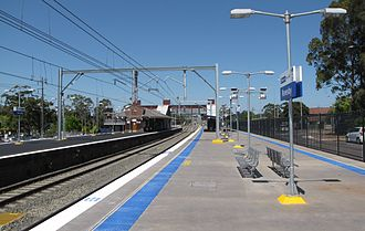 Revesby railway station - Eastbound view in January 2009 from new Platform 3, before the addition of Platform 4 to the right