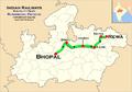Rewanchal Express (Bhopal - Rewa) route map.png