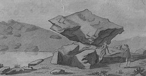 Rocking stone - The Logan Stone on the Rhinns of Kells in Galloway in 1789
