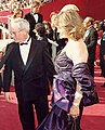 Richard Dreyfuss and wife, Jeramie Rain at 1988 Academy Awards.JPG