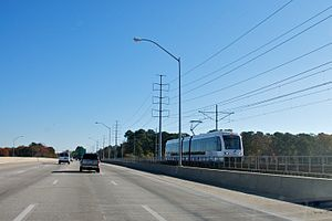 Tide Light Rail - Part of the Tide's original route parallels I-264.
