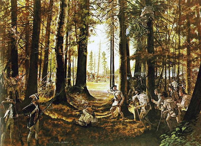 Amerikanska gevärsskyttar vid Saratoga