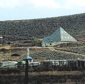 Pyramid-shaped temple located near Modena, Utah