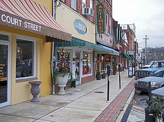 Ripley, West Virginia - North Court Street in downtown Ripley in 2007