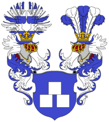 Köchel's arms as Ritter, 1842. (Source: Wikimedia)