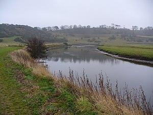 River Aln - The River Aln near Alnmouth