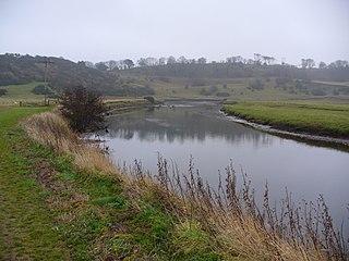 River Aln river in Northumberland, United Kingdom