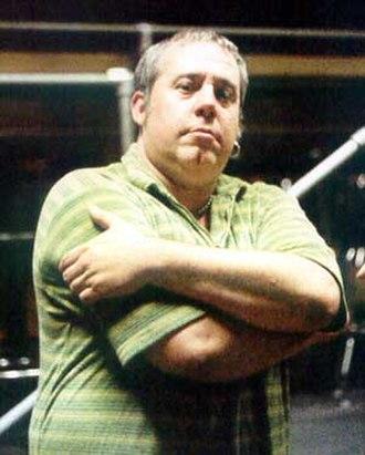 Rob Buck - Rob Buck posing backstage in 1997