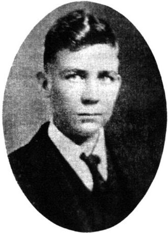 Robert E. Howard - Robert E. Howard in his Senior Year at Brownwood High School, 1923.