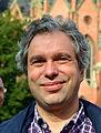 Robert Nicholls, SPD-Ratsherr in Hannover, hier am Wahlstand am Klagesmarkt vor der Bundestagswahl 2013.jpg