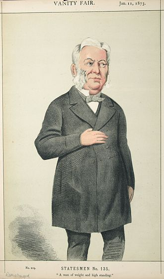 "Robert Wigram Crawford - ""A man of weight and high standing"" Crawford as caricatured by Melchiorre Delfico in Vanity Fair, January 1873"