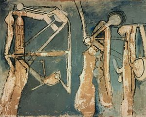 Roberto Matta - Roberto Matta, Three Figures, 1958c, M.T. Abraham Foundation.