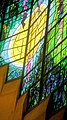 """Robinson College Chapel choir Piper stained glass window, """"Light of the World"""" (4767515124).jpg"""