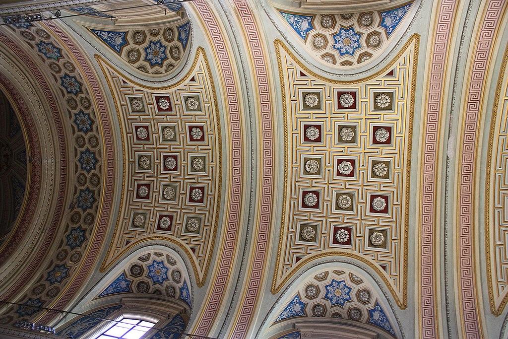 Roma, Kirche Santi Bonifacio e Alessio, die Decke.JPG
