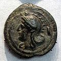 Roma, aes grave, asse con testa di roma, 269-266 ac ca.JPG