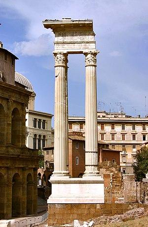 Temple of Apollo Sosianus - The 3 re-erected columns