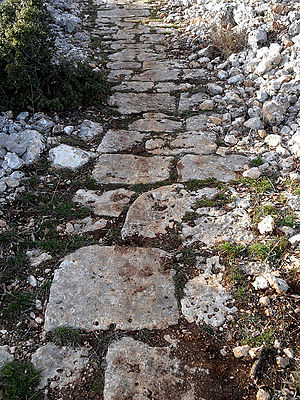 Gökkale - Roman road to the villa rustica