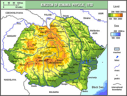 Physical map of Romania in 1939 Romania1939physical.jpg