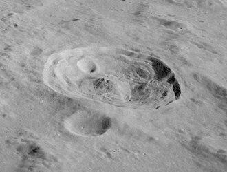 Römer (crater) - Oblique view of Römer from Apollo 17.