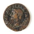 Romerskt bronsmynt med Tiberius - Skoklosters slott - 110689.tif