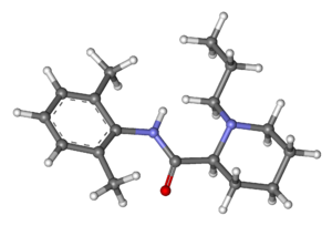 Ropivacaine - Image: Ropivacaine ball and stick