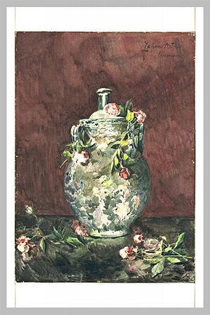 Zacharie Astruc - Image: Roses négligemment jetées sur un vase