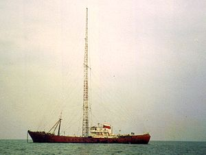 Radio Caroline - MV Ross Revenge, home of Radio Caroline from 1983