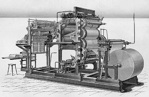 Rotations-Buchdruckmaschine Aufriß