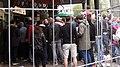 Rotterdam, achter het hek op de Coolsingel (hoek Stadhuisplein) tijdens Excelsior-Feyenoord IMG 6491 2017-05-07 14.50.jpg