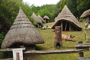 Dan yr Ogof - Roundhouses at Dan yr Ogof
