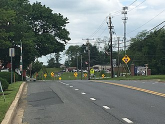Laytonsville, Maryland - Route 108 In Laytonsville, Maryland