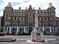 Royal Hotel and War Memorial at Weymouth Dorset.jpg