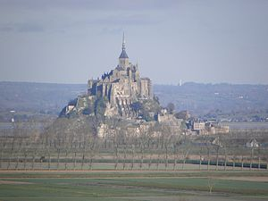 Alan fitz Flaad - Mont St Michel, the isolated Norman monastery, on the Breton border, which Henry held against his brothers, William Rufus and Robert Curthose, in 1091.